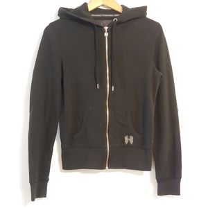 VS. hooded zip up sweater.